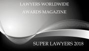 Lawyers Worldwide Awards Super Lawyers 2018